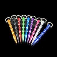 9 Renkler Moda Toptan Katı Alüminyum Kadınlar Mini Kendini Savunma Sopa Anahtarlık Öz Savunma Anahtarlıklar Kırık Pencere Kaçış Çubukları