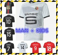 Kids Kit Stade Rennais Camavinga Футбольные майки наборы 2021 Rennes Bourigeud Raphinha Niang Hunou Grenier Футбольный люкс