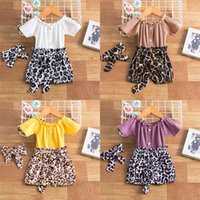 0- 24 Months Infant Baby Girls Clothes Striped T- Shirt+ Leopar...