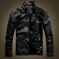 Men's Fur & Faux 2021 Fashion Vintage Mens Biker Casaco De Couro Masculino