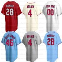 St. Louis Baseball Jerseys 4 Yadier Molina 28 Nolan Arenado 6 Stan Musial 46 Paul Goldschmidt 25 Dexter Fowler
