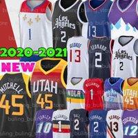 Utah Jazz Los Angeles Clippers LA 1 Williamson Jersey Zion 2 Leonard George 13 Paul Kawhi Mitchell Basquete Donovan Rudy 27 Gobert Malone John Mike 10 Conley Karl Stockton