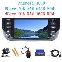 Android 10.0 Autoradio ل Punto Linea Evo 2012 2013 2014 2021 مشغل الوسائط المتعددة GPS عجلة القيادة التحكم WiFi Car DVD