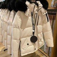 Canadian Mo * Ose Designer Ciseau à la main Big Goose Down pour hommes et femmes Couples Colliers courts Collier de fourrure extérieure épaisse veste à capuche épaisse vêtements de sport
