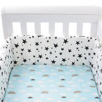 Bedding Sets Baby Nursery Nordic Stars Design Bed Thicken Bumper One-piece Crib Around Cushion Cot Protector Pillows Borns Convenient