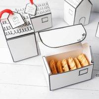Nouvelle faveur Petit Maison Papier Emballage Box Nougat Biscuits Candy Boîtes-cadeaux de mariage DHE9733