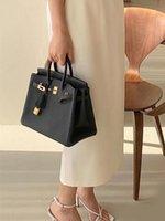 Fashion Women One shoulder Bag Crossbody Bags Real Empty Birkin Leather Handmake Designer Ladies high Quality Handbag