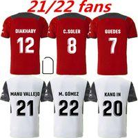 2021 2022 Valência CF Futebol Jerseys C.Soler Gaya 21 22 Guedes Manu Vallejo Camisas de futebol Piccini M.Gomez C.Rivero Wass Adulto Mens Kit Uniforme 999