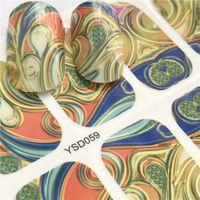 네일 스티커 판타지 다채로운 디자인 물 전송 데칼 세트 꽃 / 깃털 네일 아트 장식 뷰티 팁