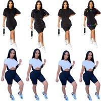 Plus Size Frauen Brief Druck T Casual T-Shirt Rate Hals Hemden Sommer Kleidung Mode Kurzarm Sport Tank Top Hot 4571