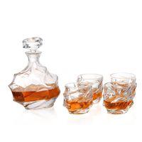 Hüftflaschen # 25 Whiskyglas 1 Set PCs Flaschen Dekanter 750 ml UPS Express 6 Tasse Hohe Qualitätsbox