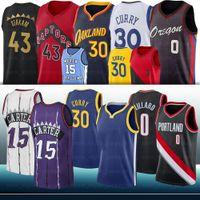 Curry 0 Damian 30 мужчин Стивен Лиллард Джерси 15 Винс 43 Паскаль Картер Siakam NCAA College Баскетбол Джерси