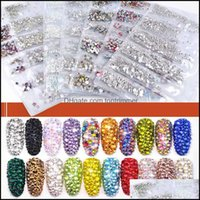 Decorations Salon Health & Beauty35 Colors Ss3-Ss10 Mix Sizes Crystal Glass For 3D Nail Art Rhinestones Crystals Strass Charms Nails Stones