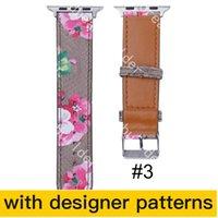 Luxury Designer Strap Watchbands Watch Band 42mm 38mm 40mm 44mm iWatch 2 3 4 5 bandas pulseira de couro listras de moda casdw