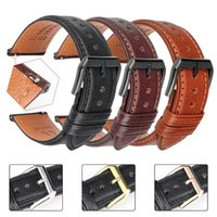 19 20mm 21 22 Mm 23 24 Leather Watch Strap Bands Quick Release Black Brown Smart Bracelet Wristband Men Women