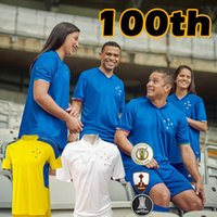 21/22 Camisa Cruzeiro Centenary Ev Futbol Formaları 100. Yıldönümü Dede Léo M. Moreno Pottker Manoel 100 Anos Futbol Gömlek Eğitim Üniformaları 2021