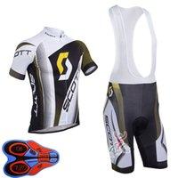 Scott Team Ropa Ciclismo 통기성 남성 사이클링 짧은 소매 저지 턱받이 반바지 세트 여름 도로 경주 의류 야외 자전거 유니폼 스포츠 정장 S210042063