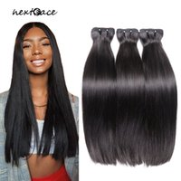 Brazilian Straight Thick End Fumi Bundles Double Weft Remy Human Hair Weave 10-22inch Extensions