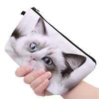 Cosmetic Bags & Cases Cute 3D Printing Black Panda Cat Zipper Square Travelling Makeup Bag Travel Ladies Pouch Exquisite
