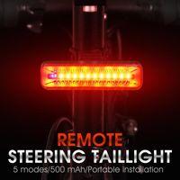 Bike Lights 500mA USB Charging Bicycle Rear Lamp Smart Wireless Remote Turn Signal Light 30 Lumen IPX5 Waterproof Cycling LED Taillight