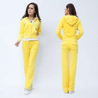 Spring fall 2021 Women's Brand Veet Fabric Tracksuits Velour Suit Women Track Hoodies and Pants Fat Sister Sportswear