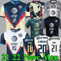 Giovani Liga MX 21 22 22 Club América Futebol Jerseys Terceiro Henry 3rd Cáceres B.valdez 2021 Home Away Maillot Men Kit Kit Futebol Treinamento Camisas