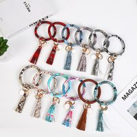 Car Keychain Bracelet Christmas Pu Python Leather Key Chain Tassel Pendant Creative Gift FWQM805