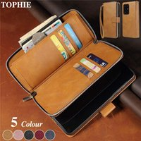 Leather Wallet Case For Galaxy Note 20 Ultra 10 S20 FE S10 S9 S8 Plus Zipper Purse Cover A21S A51 A71 A40 A50 A70 Coque Cell Phone C Cases