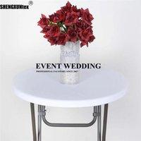 테이블 천으로 1pcs 판매 스판덱스 칵테일 탑 스트레치 커버 결혼식 이벤트 장식