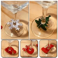Christmas Decorations 6Pcs lot Wine Glass Decoration Charms Party Year Cup Ring Table Xmas Pendants Navidad