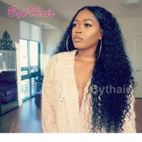 Bythair Cheap Brazilian Indian Deep Curly Wave Virgin Human Hair Lace Front Wigs for Black Women China Factory Outlet Full Lace Wig