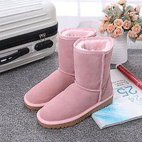 Avustralya En Kaliteli Kadın Botları Klasik Moda UG WGG Marka Deri Pamuk Kadın Kar Boot Beden US5 - US10