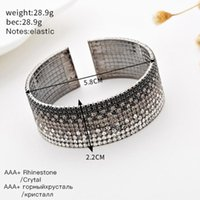 Zehn Linien des Diamant-Armbands ziehen Handring, schwarz-weiß-Spleiß-Temperament-Armband-Armreif