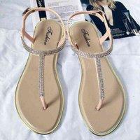 Koovan da donna scarpe da donna estate piatta clip t-type cinghia romano basso sandalo in plastica spiaggia 210608 jh9e6jck