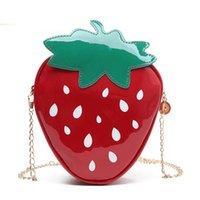 Femmes Bandbody Sacs Sweet Strawberry Shape Balpersonality Mini Parti Chaine Sac Girl Girl Cadeau Sac à main