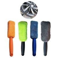 Auto Schwamm Tragbare Mikrofaser-Rad-Reifen-Felgenbürste mit Kunststoff-Griff-Schlammentferner detaillierter Reiniger Waschmaschine Autozubehör