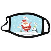 Shipping Fashion Christmas Masks Deer Printed Xmas DHL Face Masks Anti Dust Snowflake Christmas Mouth Cover Washable Reusable HHF1394