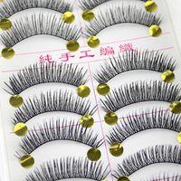 False Eyelashes 100 50 40pair 3D Faux Mink Makeup Extension Natural Long Volume Fake Eye Lash Reusable Handmade Tool