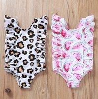 One-Pieces 2021 Bathing Suit For Baby Kids Girls Summer Leopard Printed Bikini One Piece Swimwear Swimsuit Set Sunsuit Sets