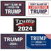 Yeni 90 * 150 cm Destek Trump Bayrak 2024 ABD Başkanlık Seçimi Açık İç Dekorasyon Afiş