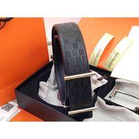 Gürtel Womens Hohe Qualität Echt Viele Farbe Optionale Mode Rindsgitter Gürtel für Herrengürtel 38mm mit Geschenkbox HJ3