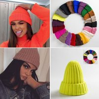 Beanies Unisex Hat Cotton Blends Solid Warm Soft HIP HOP Knitted Hats Men Winter Caps Womens Skullies For Girl Wholesale