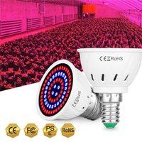 80LED E27 LED Grow Lights E14 Full Spectrum Bulb GU5.3 Plant Growth Light 220V GU10 Phyto Lamp MR16 B22 Greenhouse 2835