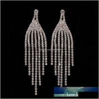 Goccia d'acqua di cristallo di monili di moda per le donne Elegante strass sierino a colori orecchini da sposa la sposa adornano l'articolo 8DSZC T90YG