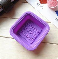 100% Handmade Sabonete Moldes DIY Square Silicone moldes de cozimento molde artesanato artesão fazendo ferramenta diy bolo molde T2I52282