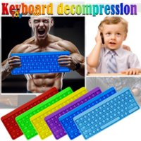 2021 fidget toy Push Keyboard irritable push feel bubble autism special needs anxiety relief office silicone press splicing toys 856
