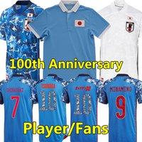 2021 22 Japón 100 aniversario de fútbol Jerseys de fútbol Versión de jugadores Versión especial 100 HONS HONDA TSUBASA KAMADA SHIBASAKI CAMISETA DE FÚTBOL DE FÚTBOL CARTÓN NÚMERO PARA HOMBRES KIT DE NIÑOS