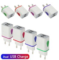 Led light dual usb ports us ac home wall charger adapter power adaptor 2.1A+1A Universal for phones Samsung htc android phone tablet PC