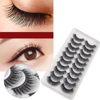 False Eyelashes 10Pairs Fake Natural Long Black Women Makeup For Home