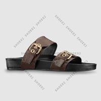 Высококачественные дизайнерские тапочки Slides Sandales Летние квартиры Сексуальная Натуральная Кожаная Обувь платформы Дамы Beach Shoe02 01